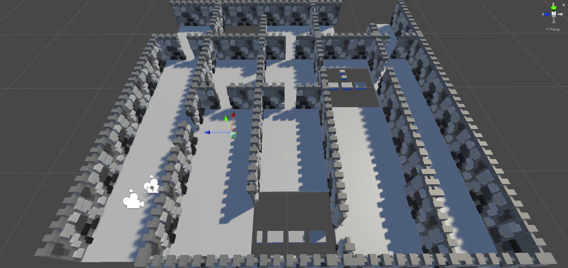 Level concept for castle in Precision.